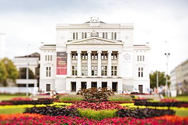 Latvian National Opera Building, Riga, Latvia, Baltic States, Europe