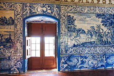 Azulejos, interior of Palace of Sintra, Sintra, Portugal, Europe