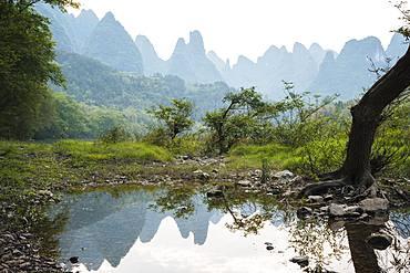 Landscape near Xingping, Guilin, Guangxi Province, China, Asia
