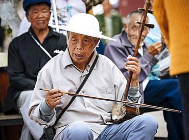 Local Musicians, Jianshui, Yunnan Province, China, Asia
