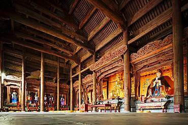 Interior of Temple, Dali, Yunnan Province, China, Asia