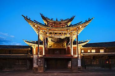 The Three Terraced Pavilion, Shaxi, Yunnan Province, China, Asia