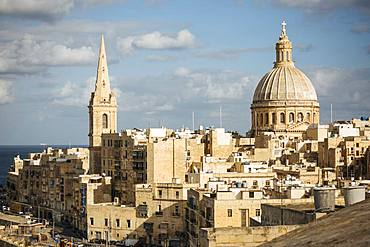 Dome of Basilica of Our Lady of Mount Carmel, Valletta, Malta, Europe