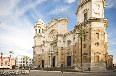 Exterior of Cathedral, Cadiz, Andalucia, Spain, Europe