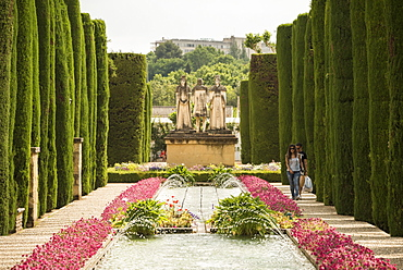Gardens at The Alcazar, UNESCO World Heritage Site, Cordoba, Andalucia, Spain, Europe