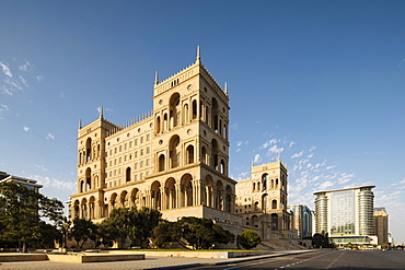 Exterior of House of Government, Freedom Square, Baku, Azerbaijan, Central Asia, Asia