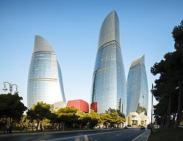 Flame Towers, Baku, Azerbaijan, Central Asia, Asia