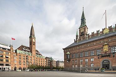 Exterior of Copenhagen City Hall and Scandic Palace Hotel, Copenhagen, Denmark, Scandinavia, Europe