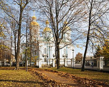 Nikolo-Bogoyavlenskiy Morskoy Sobor Orthodox Church, St. Petersburg, Leningrad Oblast, Russia, Europe