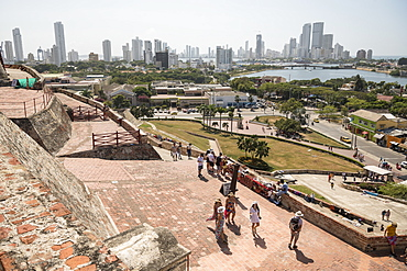 View from Castillo de San Felipe de Barajas, Cartagena, Bolivar Department, Colombia, South America