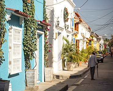 Street scene, Getsemani Barrio, Cartagena, Bolivar Department, Colombia, South America