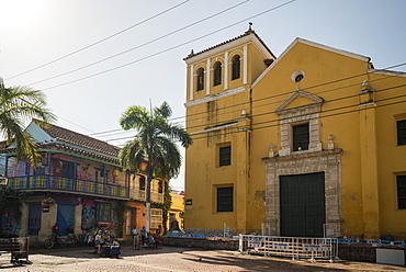 Holy Trinity Square, Getsemani Barrio, Cartagena, Bolivar Department, Colombia, South America