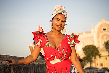 Portrait of Istria, Cartagena, Bolivar Department, Colombia, South America