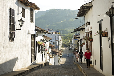 Street scene, Giron, Santander, Colombia, South America