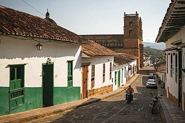 Street scene, Barichara, Santander, Colombia, South America