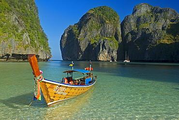 Maya Bay, Kho Phi Phi Leh, Krabi Province, Thailand, Southeast Asia, Asia