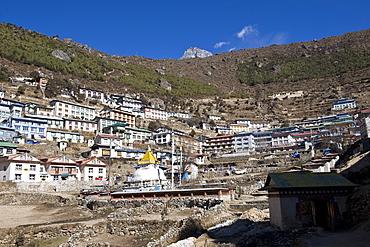 Namche Bazaar, Solu Khumbu Region, Nepal, Himalayas, Asia