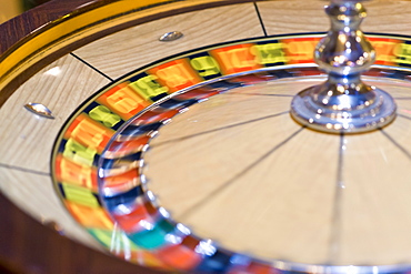 Roulette wheel, Casino interior, Las Vegas, Nevada, United States of America, North America