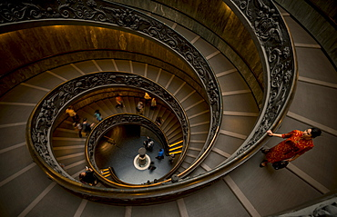 Steps at the Vatican Museum, The Vatican City, Vatican, Rome, Lazio, Italy, Europe