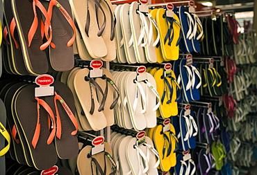 Havaiana flip flops for sale, Rio de Janeiro, Brazil, South America