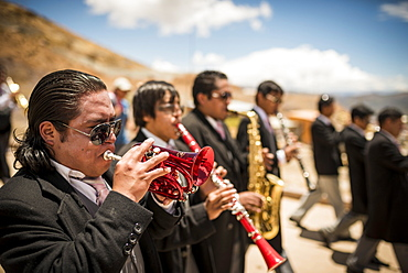 Processions during The Miners Carnival, Cerro Rico, Potosi, Southern Altiplano, Bolivia, South America