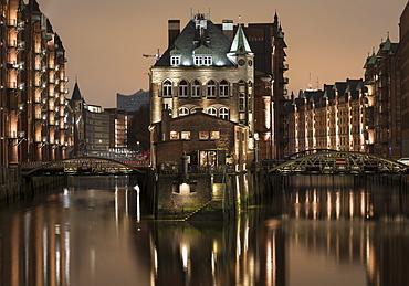 Speicherstadt District, Hafencity, Hamburg, Germany, Europe