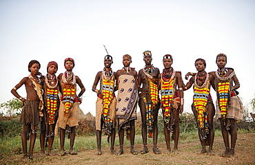 Girls of the Hamar Tribe, Omo Valley, Ethiopia, Africa