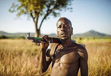 Portrait of Banki, Banna Tribe, Gargew Village, Omo Valley, Ethiopia, Africa