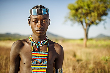 Portrait of Ari, Banna Tribe, Gargew Village, Omo Valley, Ethiopia, Africa