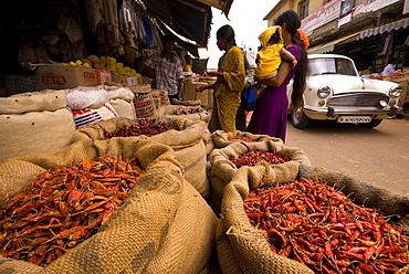 Bangalore Market, Karnataka, India, Asia