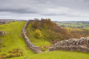 Hadrian's Wall, UNESCO World Heritage Site, Northumberland, England, United Kingdom, Europe