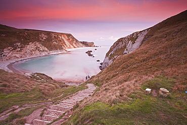 Man Of War Cove on the Jurassic Heritage Coastline, UNESCO World Heritage Site, Dorset, England, United Kingdom, Europe
