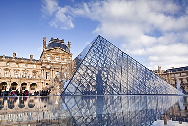 The Musee du Louvre in central Paris, France, Europe