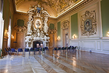 The interior of the Hotel de Ville (Town Hall) of Tours, Indre et Loire, Centre, France, Europe