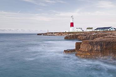 The lighthouse on Portland Bill, Isle of Portland, Jurassic Coast, UNESCO World Heritage Site, Dorset, England, United Kingdom, Europe