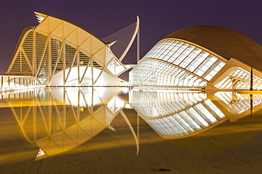 The City of Arts and Sciences (Ciudad de las Artes y las Ciencias) in Valencia, Spain, Europe