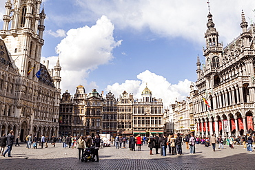 The Grand Place (Grote Markt), the central square of Brussels, UNESCO World Heritage Site, Brussels, Belgium, Europe