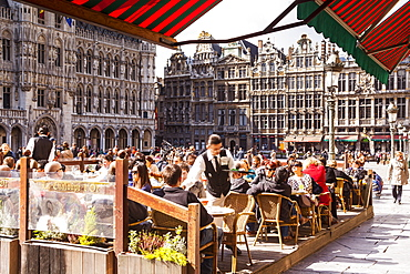 The Grand Place (Grote Markt) is the central square of Brussels, UNESCO World Heritage Site, Brussels, Belgium, Europe