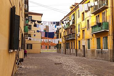 The streets of Giudecca, Venice, UNESCO World Heritage Site, Veneto, Italy, Europe