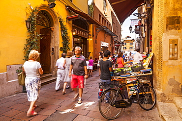 The Quadrilatero district of Bologna, UNESCO World Heritage Site, Emilia-Romagna, Italy, Europe