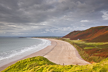 Rhossili Bay on the Gower Peninsula, Wales, United Kingdom, Europe