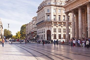 Place de la Comedie in the city of Bordeaux, Gironde, Aquitaine, France, Europe