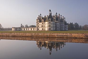 Chateau de Chambord, UNESCO World Heritage Site, Chambord, Loire Valley, France, Europe