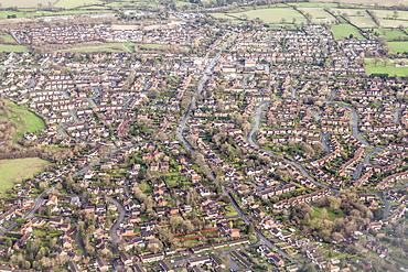 Suburban houses in the Midlands, England, United Kingdom, Europe