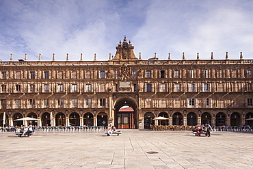 Plaza Mayor in Salamanca, UNESCO World Heritage Site, Castile and Leon, Spain, Europe