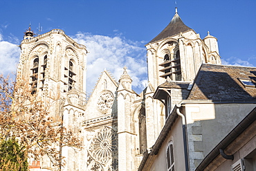 Saint Etienne cathedral in Bourges, UNESCO World Heritage Site, Cher, France, Europe
