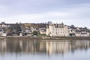 The village and Chateau of Montsoreau, UNESCO World Heritage Site, Loire Valley, Maine et Loire, France, Europe