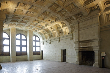 The interior of Chateau de Chambord, UNESCO World Heritage Site, Loire Valley, Loir et Cher, Centre, France, Europe