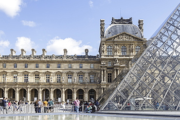 The Musee du Louvre in Paris, France, Europe
