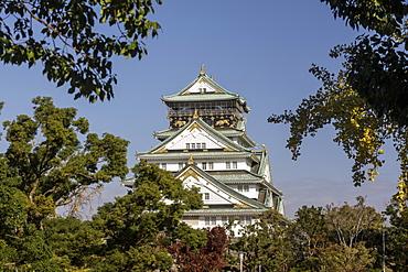 Osaka Castle, Osaka, Japan, Asia